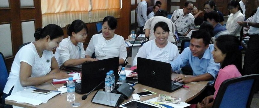 Myanmar digital information literacy training