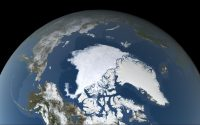 A view from space of the Arctic