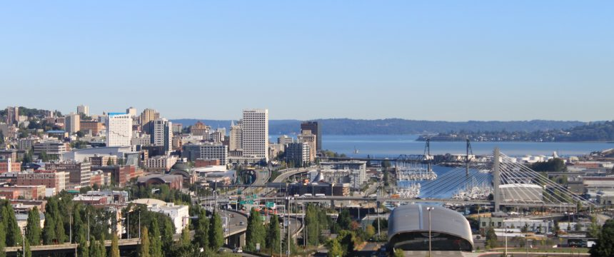 A view of the Tacoma skyline from the East